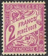 Andorra (French POs) SG FD99 1941 Postage Due 2f mounted mint